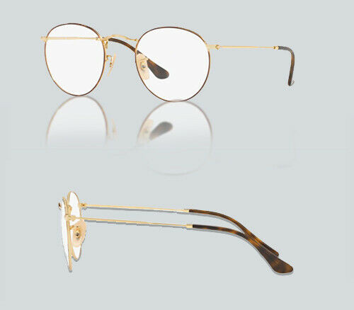 Authentic Ray Ban 0RX3447V ROUND METAL 2945 GOLD ON TOP HAVANA Eyeglasses