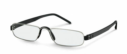Unisex Reading Glasses  R2180 A Black/Silver (+1.00, +1.50, +2.00, +2.50)