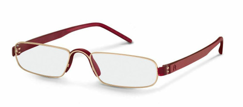 Unisex Reading Glasses   R2180 B Gold/Burgundy  (+1.00, +1.50, +2.00, +2.50)