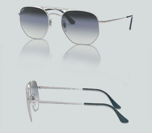 Authentic Ray Ban 0RB 3609 91420S DEMI GLOSS SILVER Sunglasses