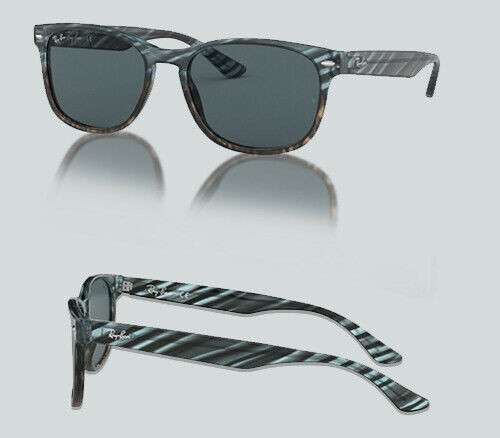 Authentic Ray Ban 0RB 2184 F 1252R5 BLU GRADIENT GREY STRIPPED Sunglasses