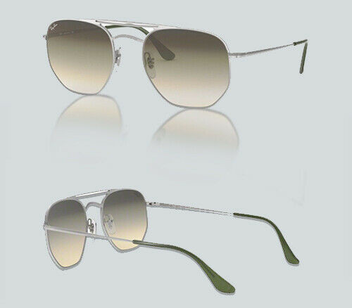 Authentic Ray Ban 0RB 3609 91420R DEMI GLOSS SILVER Sunglasses
