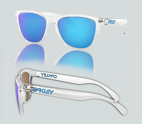 Authentic Oakley 0OO9013 FROGSKINS 9013D0 CRYSTAL CLEAR Sunglasses