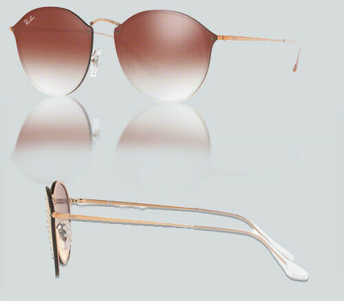 Authentic Ray Ban 0RB3574N BLAZE ROUND 9035V0 COPPER Sunglasses