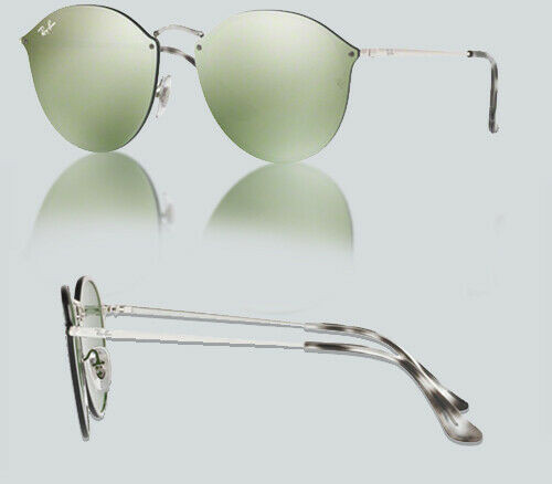 Authentic Ray Ban 0RB3574N BLAZE ROUND 003/30 SILVER Sunglasses