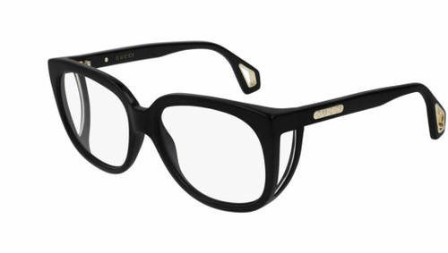 Authentic Gucci GG 0470O 001 Black Eyeglasses