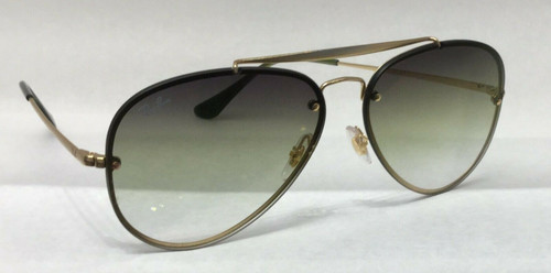 Authentic Ray Ban 0RB 3584 N BLAZE AVIATOR 91400R DEMI GOLSS GOLD Sunglasses