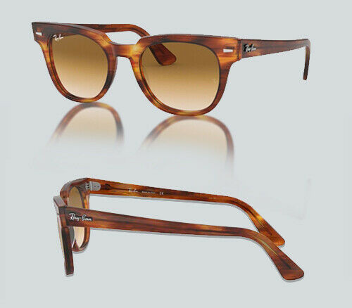 Authentic Ray Ban 0RB 2168 METEOR 954/51 STRIPPED HAVANA Sunglasses