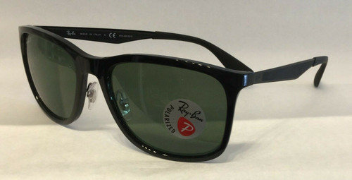 Authentic Ray Ban 0RB 4313 601/9A BLACK Polarized Sunglasses