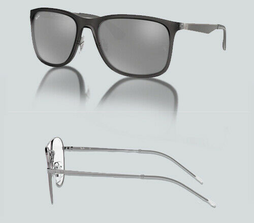 Authentic Ray Ban 0RB 4313 637988 MATTE TRASPARENT GREY Sunglasses
