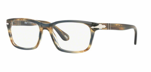 Authentic Persol 0PO 3012 V 1049 STRIPED BROWN GREY Eyeglasses