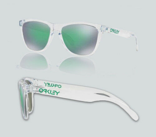 Authentic Oakley 0OO9013 FROGSKINS 9013D6 CRYSTAL CLEAR Sunglasses