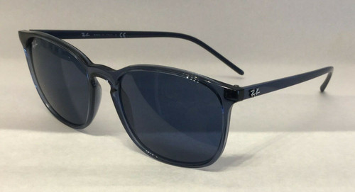 Authentic Ray Ban 0RB 4387 639980 TRANSPARENT BLUE Sunglasses