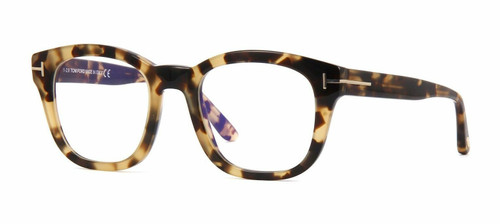 Autentico Tom Ford ft 5542 B 056 L Havana Chiaro Occhiali da Vista