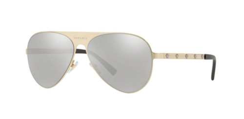 Authentic Versace 0VE 2189 13396G BRUSHED PALE GOLD Sunglasses