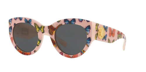 Authentic Versace 0VE 4353 A 528687 BUTTERFLY/PINK Sunglasses