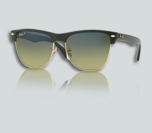 Authentic Ray Ban 0RB4175 CLUBMASTER OVERSIZED 877/76 DEMIGLOSS BLACK Sunglasses