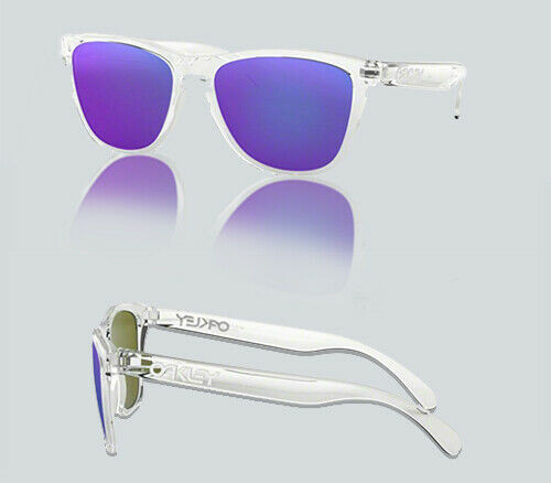 Authentic Oakley 0OO9013 FROGSKINS 24-305 POLISHED CLEAR Sunglasses