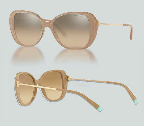 Authentic Tiffany & Co. 0TF4156-82723D Crystal/Beige 4156 Sunglasses