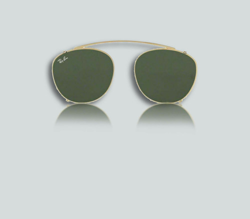 Authentic Ray Ban 0RX6355C Clip On 250071 Gold Clip-On