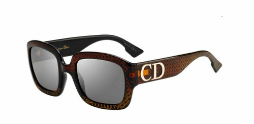 Authentic Christian Dior DDior 0DCB Gold Brown Sunglasses