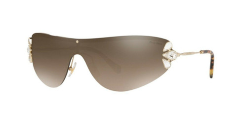 Authentic 0MU 66 US CORE COLLECTION ZVN4O2 PALE GOLD Sunglasses