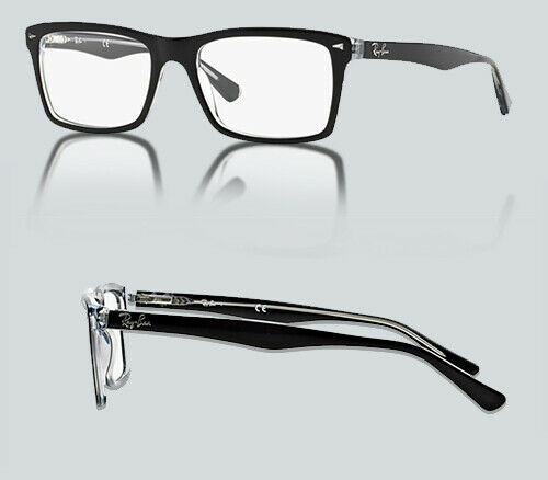 AUTHENTIC RAY BAN 0RX 5287 2034 TOP BLACK ON TRANSPARENT Eyeglasses