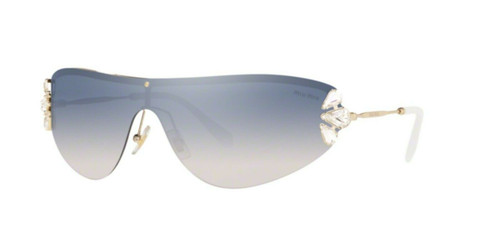 Authentic 0MU 66 US CORE COLLECTION ZVN5R0 PALE GOLD Sunglasses