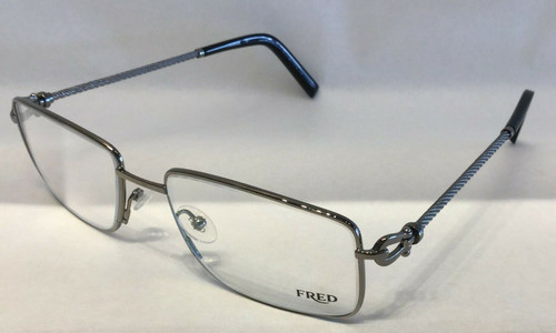 Authentic Fred FORCE 10 8414 007 Palladium Silver Eyeglasses