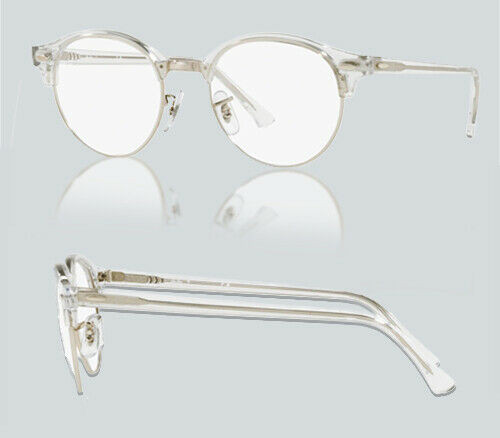 Authentic Ray Ban 0RX4246V CLUBROUND 2001 WHITE TRANSPARENT Eyeglasses