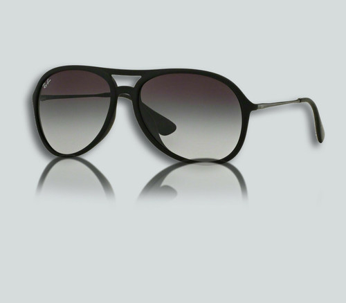 Authentic Ray Ban 0RB4201F ALEX 622/8G RUBBER BLACK Sunglasses