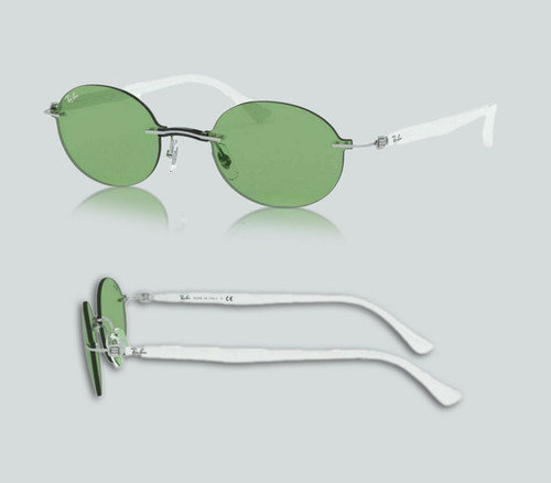 Authentic Ray Ban 0RB8060 003/2 Silver Sunglasses