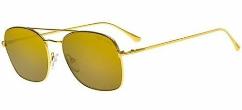 Authentic Tom Ford LUCA 02 FT 0650 30G Gold/gold Brown Mirror Sunglasses