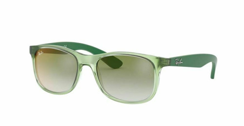 Authentic Ray Ban 0RJ9062S 7053W0 Transparent Green/Green Mirrored Sunglasses
