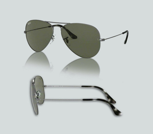 Authentic Ray Ban 0RB3025 Aviator Large Metal 919031 Sand Trans Grey Sunglasses