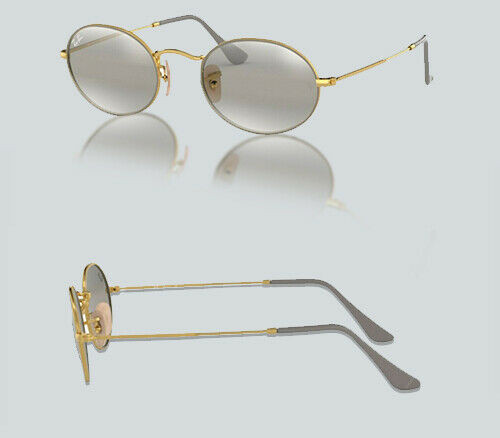 Authentic Ray Ban 0RB3547  9154AH GOLD ON TOP MATTE GREY Sunglasses