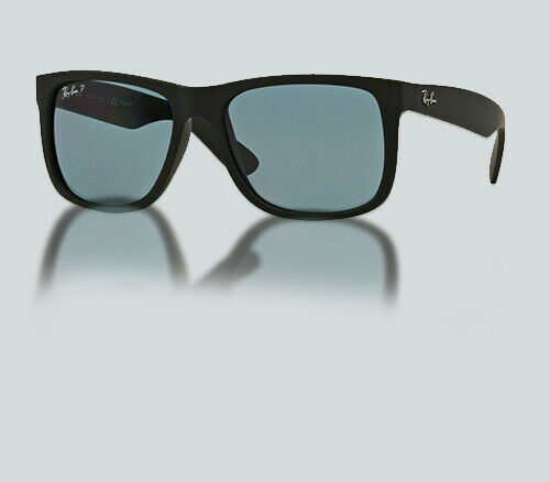 Authentic Ray Ban RB 4165 JUSTIN 622/2V BLACK RUBBER Sunglasses