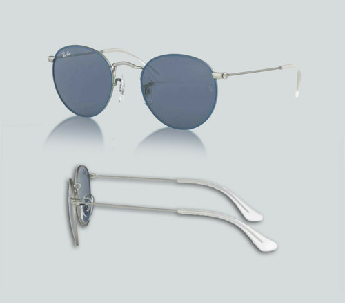 Authentic Ray Ban 0RJ9547S Junior Round 280/80 Top Rubber Blue Sunglasses