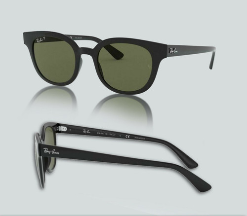 Authentic Ray Ban 0RB4324 601/31 Black Sunglasses