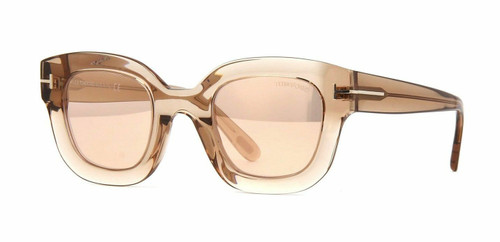Tom Ford FT 0659 45GC Light Brown/Brown Mirror Sunglasses
