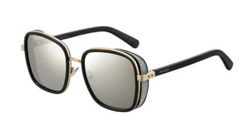 Authentic Jimmy Choo Elva/S-02M2/T4 Black Gold Elva s Sunglasses