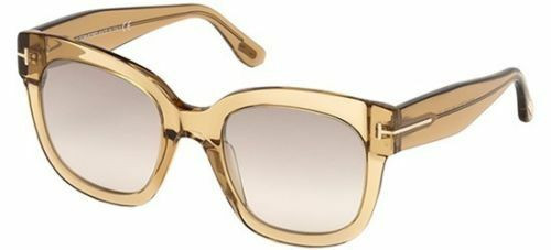 Authentic Tom Ford BEATRIX 02 FT 0613 Light Brown/Light Brown shaded Sunglasses