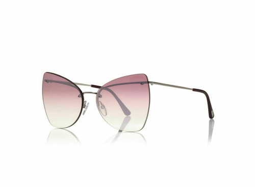 Authentic Tom Ford FT0716 16Z Silver/Pink Sunglasses