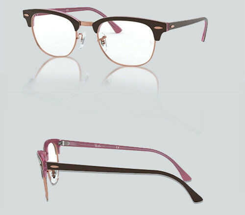 Authentic Ray Ban 0RX 5154 CLUBMASTER 5886 TOP BROWN ON OPAL PINK Eyeglasses