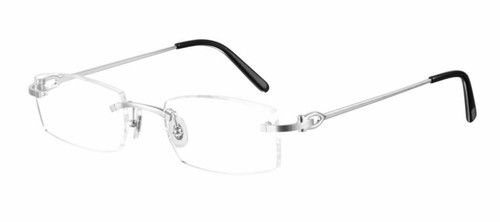 Authentic Cartier CT 0045O 001 Silver Eyeglasses