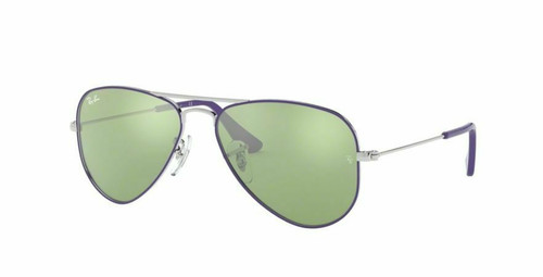 Authentic Ray Ban 0RJ9506S Junior Aviator 262/30 Silver Top On Violet Sunglasses
