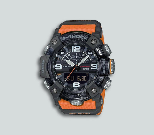 Authentic G-Shock Casio Mudmaster Carbon Core Guard Orange Watch GGB100-1A9