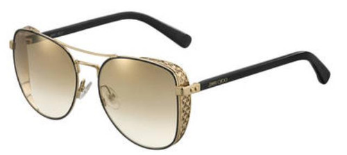 Authentic Jimmy Choo Sheena/S-02M2/JL Black Gold Sheena S Sunglasses