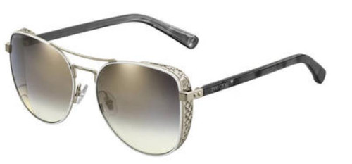 Authentic Jimmy Choo Sheena/S-0B4E/FQ White Gold Sheena S Sunglasses