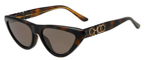 Authentic Jimmy Choo Sparks/G/S-0086/70 Dark Havana Sparks gs Sunglasses